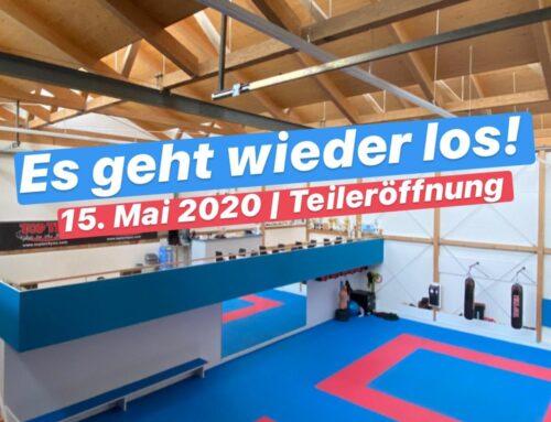 (Teil-)Wiedereröffnung am 15. Mai 2020